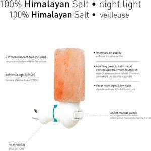 Himalayan Salt Cylinder Night Light, Manual On/Off
